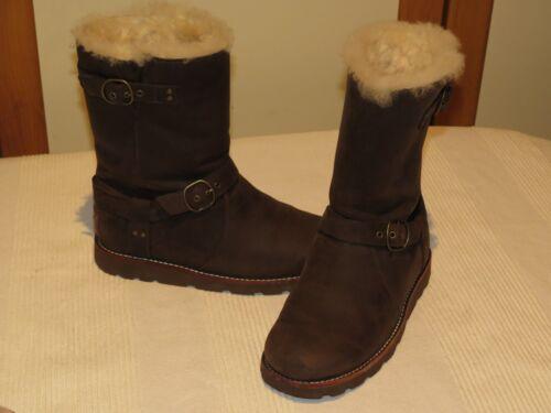 Ugg® Unido de Eur Australia oveja Rrp marrón Botas Us piel 36 £ 235 cuero Reino Noira de 5 5 y 3 qPSq4wArx