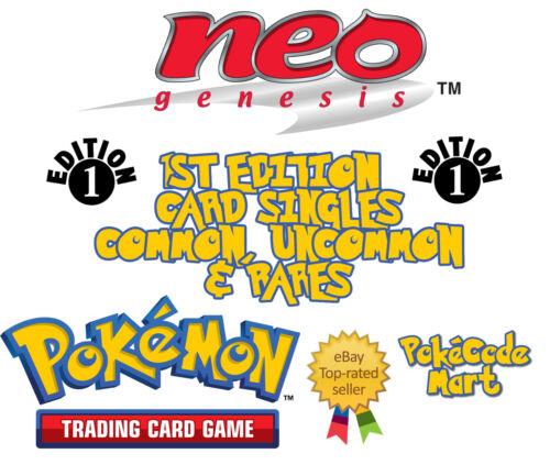Uncommon Pokemon TCG Neo Genesis 1st Edition Card Selection Rares Common