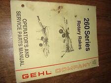 Gehl 260 Series Rotary Rakes Operators Manual 904797