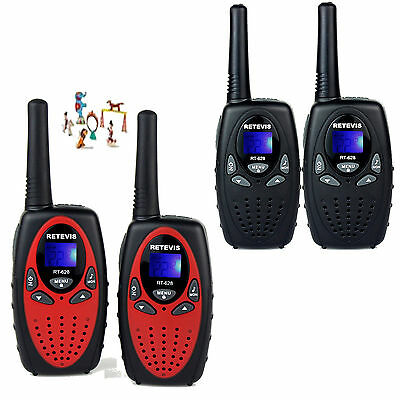 Retevis RT628 Kids Walkie Talkie UHF 22CH Call Alert Two-Way Radio Black+Red US