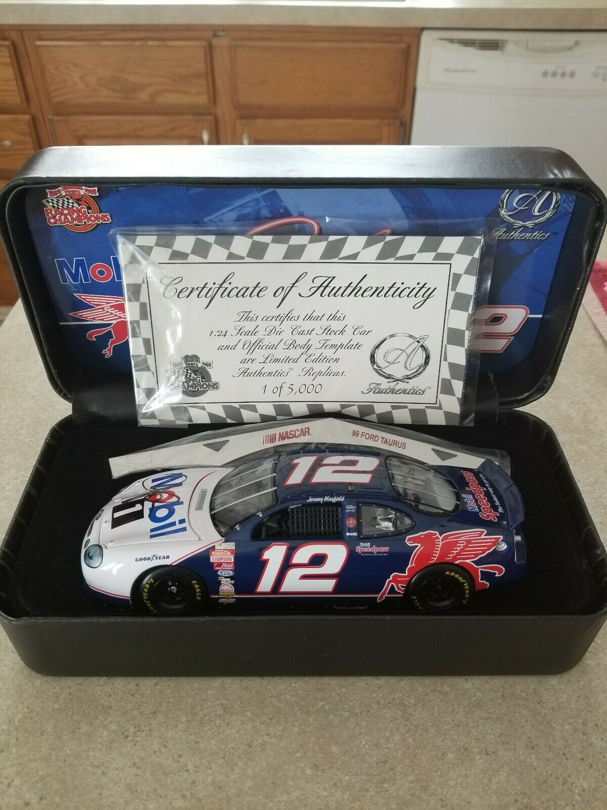 1999 Racing Champions  AUTOGRAPHED  Jeremy Mayfield Ford Tauras