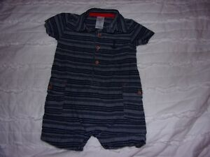 Carter's Boys/' One Piece Romper-ALLIGATOR PLAID-6 Months-NWT