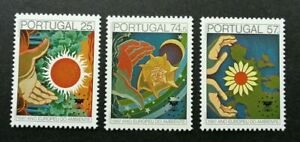 SJ-Portugal-European-Environment-Year-1987-Sun-Flower-Protection-stamp-MNH