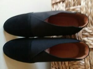 Retail $210 Black Humorous L'amour Des Pieds 'bowden' Slip-on Wedge women Size 8