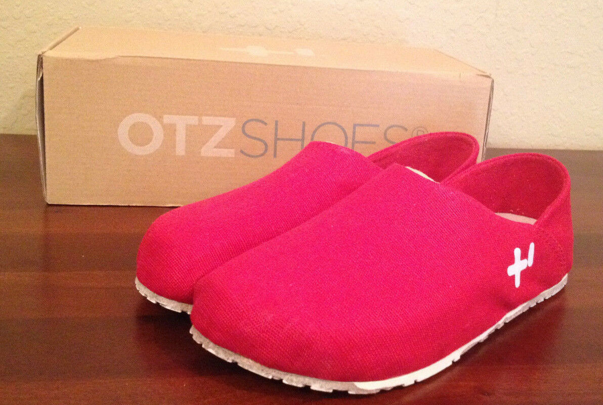 NIB 80 OTZ 300GMS In Coarse Linen SPAGNA RED Shoes size 37 Mens 4  Womens 7