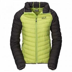 Details zu Jack Wolfskin Zenon XT Jacket Women, Damen Daunenjacke mit Kapuze, glowing green