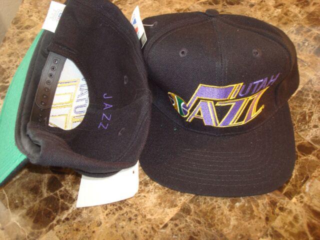 UTAH JAZZ WOOL RARE G-CAP   RARE   SCRIPT NEW VINTAGE 90'S HAT CAP  SNAPBACK
