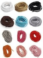 5/100 Meters Man-made Leather  Braid Cords Thread for Necklace/Bracelet DIY 3mm