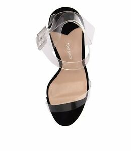 cf530ab273a Details about Gently Used Tony Bianco Kiki Clear Black Heels