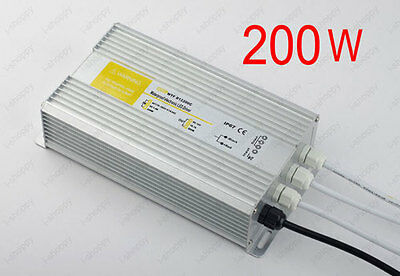 200W LED Outdoor Driver Transformer Adapter LED Strip CCTV Ballast Converter