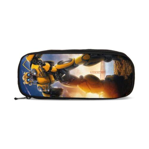 Transformers Bumblebee Backpack Kids 4PCS School Bag Set Superhero Bookbag Lot