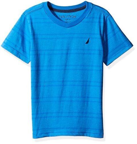 Nautica Childrens Apparel Big Boys Jersey Stripe V-Neck Tee Shirt