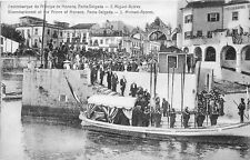 POSTCARD    PORTUGAL   AZORES   PONTE  DELGADA   PRINCE OF  MONACO  Landing