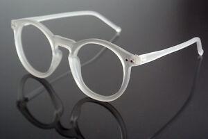 Eyeglass Frames No Lenses : 47mm Oval Vintage Transparent Eyeglass Frame Glasses ...