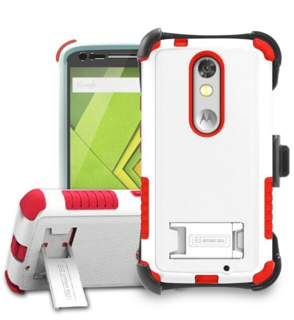 sports shoes 5f103 e66aa for Moto X Force Droid Turbo 2 Xt1585 Hybrid Shock Armor Case Belt Clip  Holster
