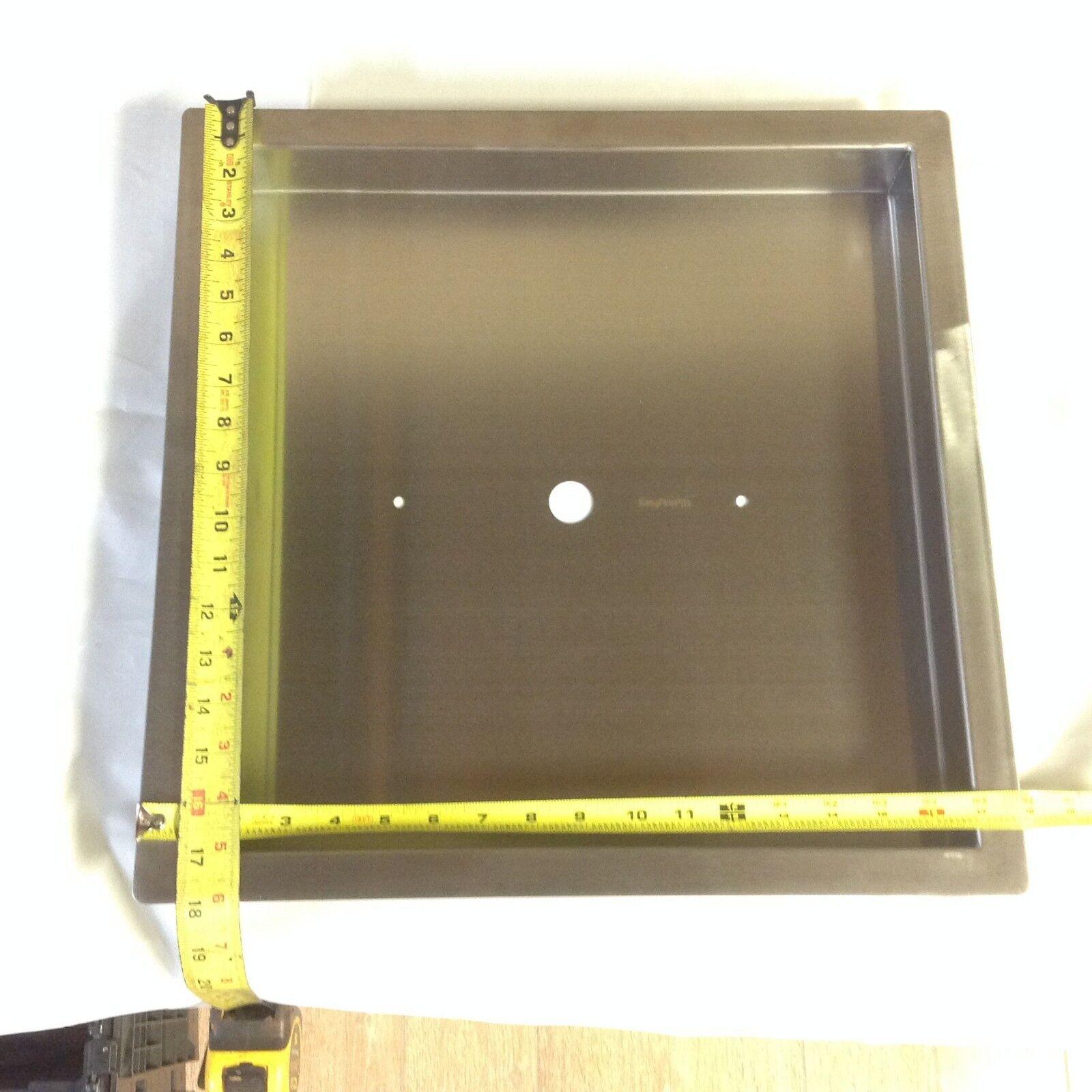 PAN16X16-1: Resistente Pan Calibre 18 Inoxidable 40.6cmx40.6cmx2