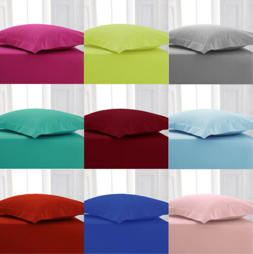 Extra Deep 16 inch Percale Fitted Bed Sheet Bed Linen