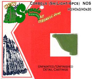 Decorative-Light-Corbels-Small-6pcs-HOn3-HOn30-Sequoia-Models-FSM-NOS