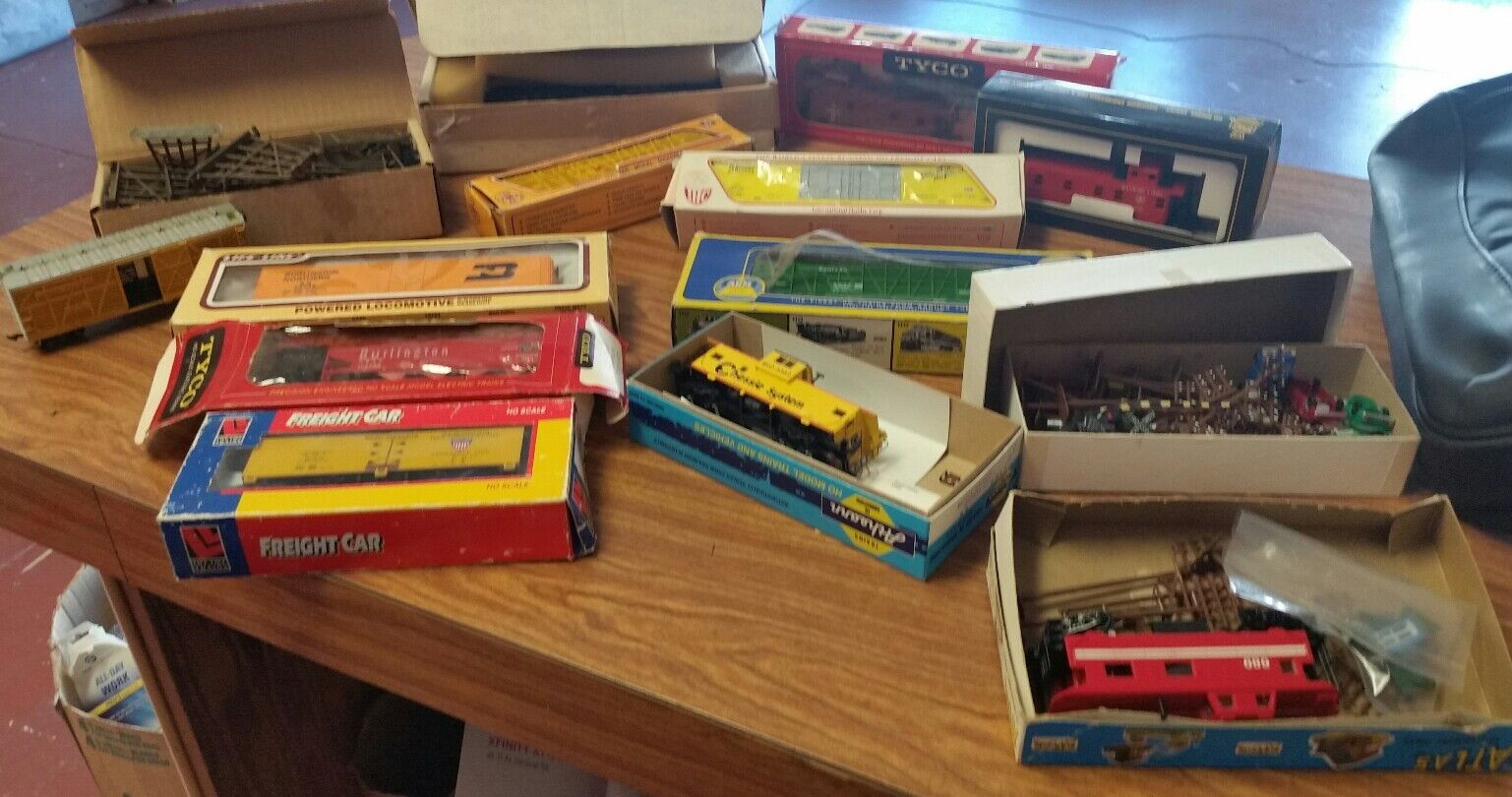 Lot of 14 Miscellaneous ToyTrain Cars and Accessories