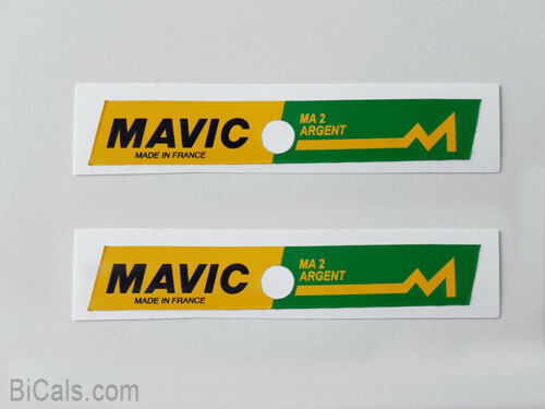 free shipping MAVIC MA 2 ARGENT decal sticker for rims silk screen