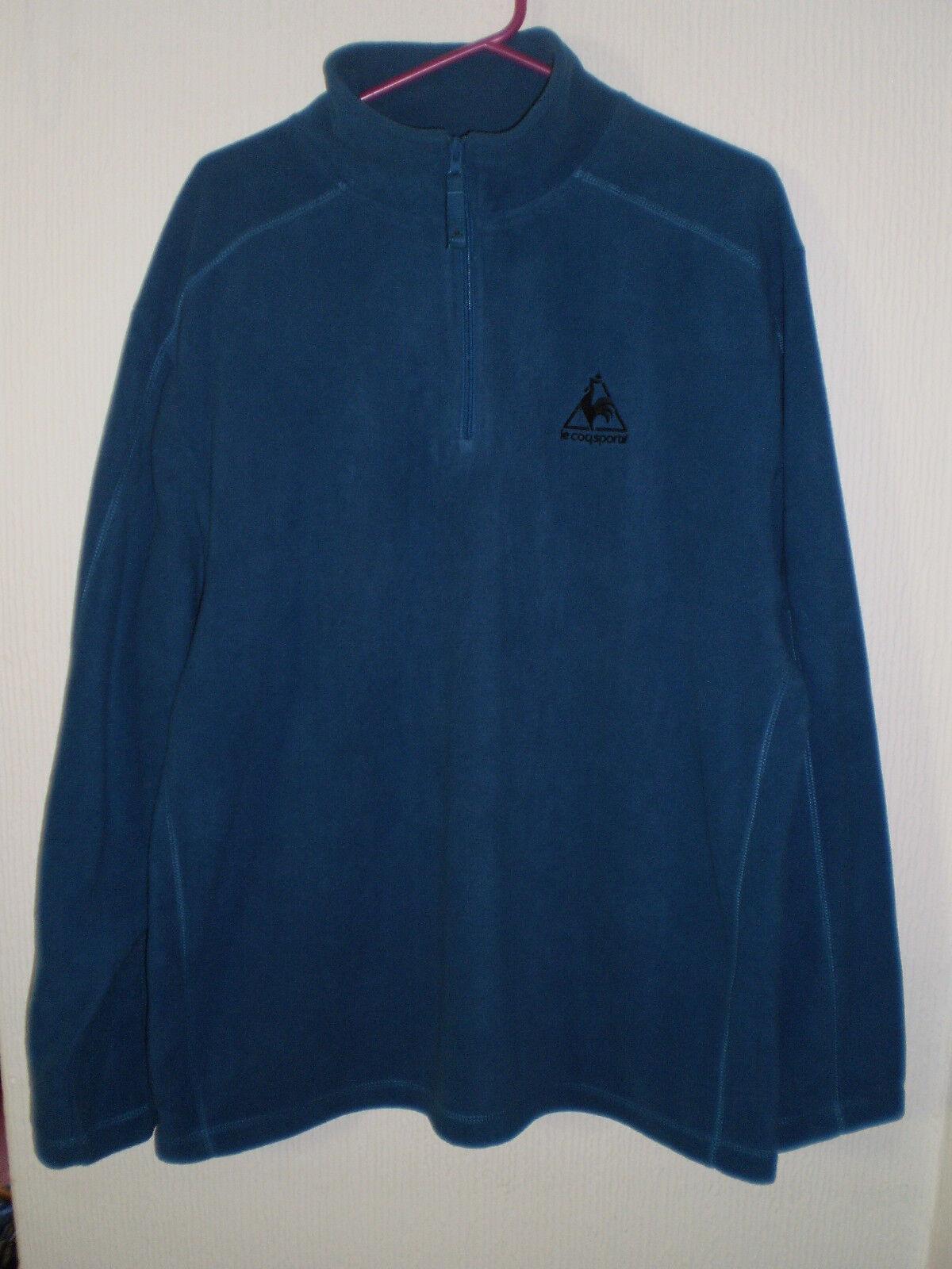 Le Coq Sportif  Herren Blau Fleece Warm Half Zip Sweater Jumper pullover XXL
