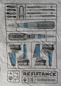 Geek-Fuel-Star-Wars-Force-Awakens-Resistance-Poe-X-Wing-BB8-Model-Kit-T-Shirt-M