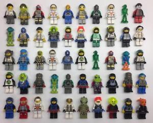 5-LEGO-SPACE-MINIFIGS-LOT-pilot-alien-ufo-random-bulk-figures-w-5-accessories