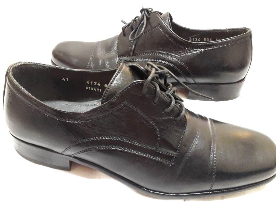 Scarpe Uomo Eleganti Valleverde Allacciate 41 Nero Pelle uomo Shoes MADE ITALY Scarpe classiche da uomo