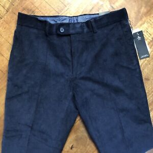 Penguin-Corduroy-Pants-Skinny-Dress-Chinos-Tapered-Blue-Mens-Size-32x30