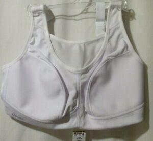 Glamorise-Sports-Bra-38D-White-Support-Mesh-breathable-adjust-straps-2-307-323
