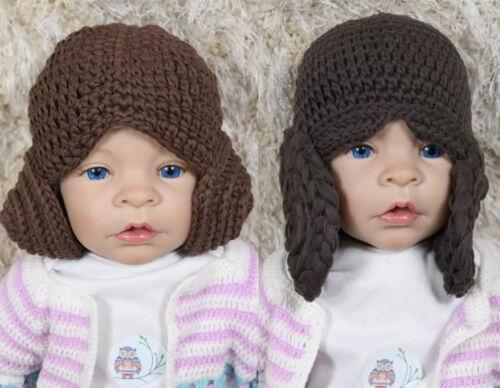 Handmade princesse Leia Chapeau Tricot Crochet Bonnet Baby Hat Enfant Chapeau Star Wars hat NEW
