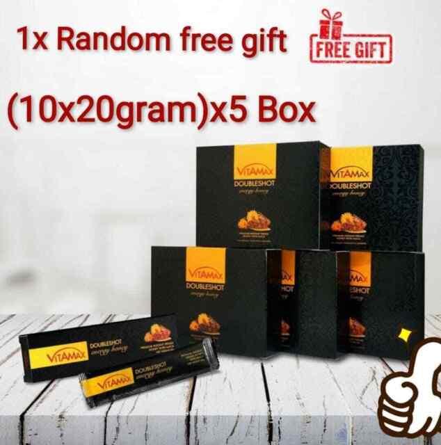 VITAMAX DOUBLESHOT Energy Honey For Him - 5 Box- of 10 x 20 gram Sachets