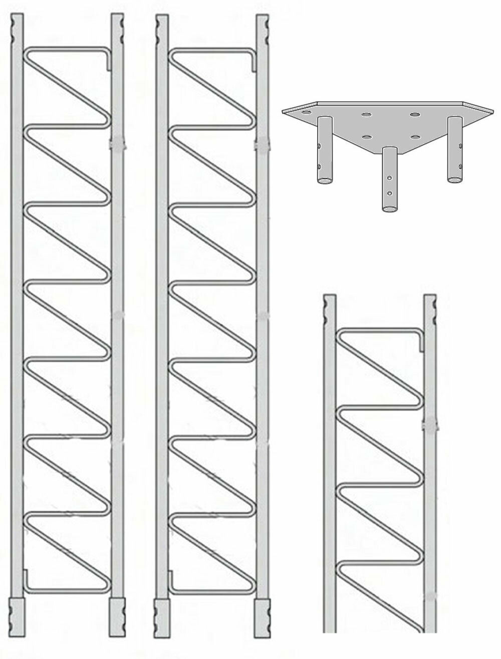 ROHN 55SS020    55G Series 20' Self Supporting Tower Kit . Available Now for 1433.00
