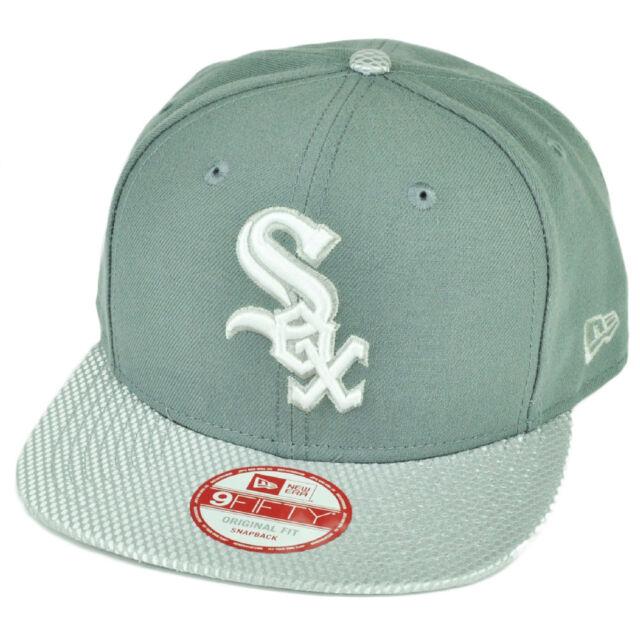 c1033aad63b055 ... cheapest mlb new era 9fifty flash vize chicago white sox snapback hat  cap flat bill gray