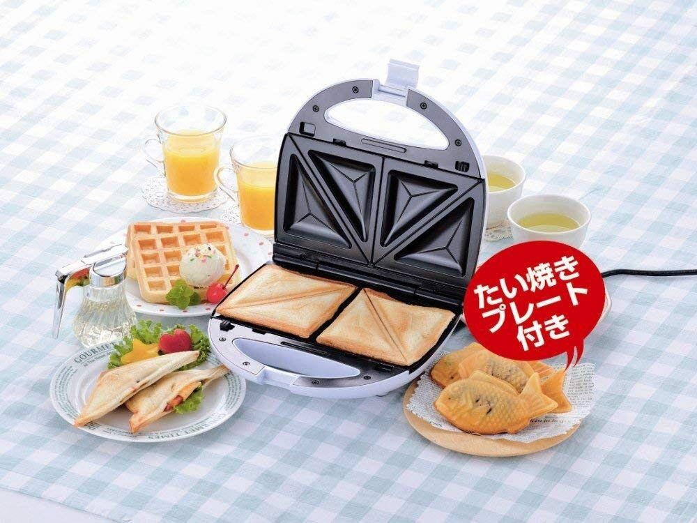 Taiyaki sandwich waffle maker hot plate Washable Compact japanease food