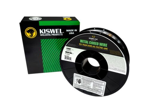 Metal Cored Welding wire Made in USA Dia 10lb 2 Rolls Kiswel E70C-6M .035 in