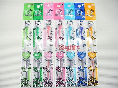 Sanrio Hello Kitty x Pilot Coleto Series 0.4mm Rollerball Refills, 7 Colors Set