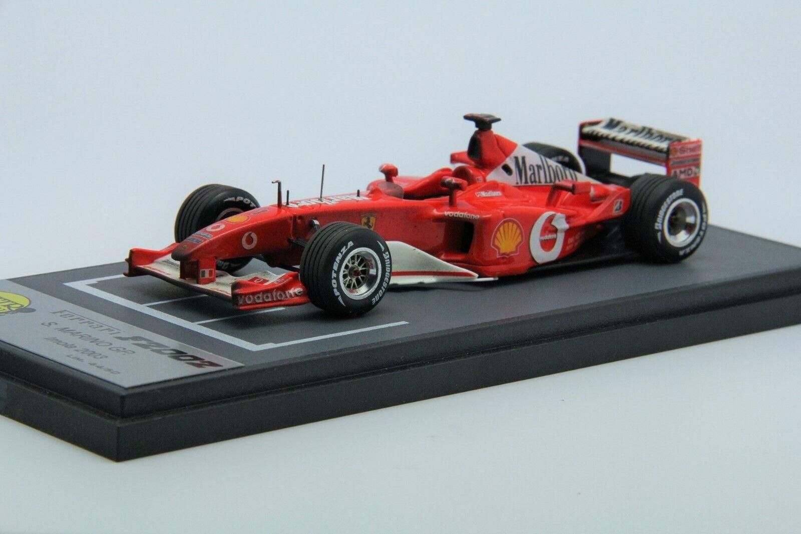 1 43 BBR Ferrari F2002 San Marino GP 2003 QR36 Free Shipping  MR Looksmart