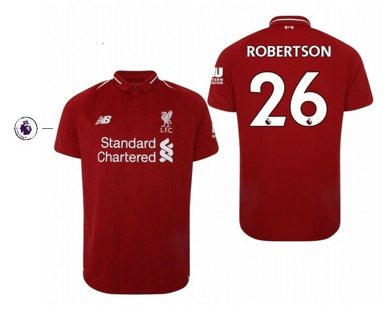 Trikot New Balance FC Liverpool 2018-2019 Home Home Home PL - Robertson 26 2aace4