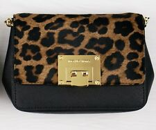 Item 1 New Michael Kors Tina Emboss Leather Animal Print Crossbody Small Clutch Purse