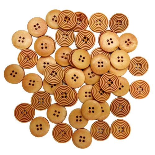 100 Stück Holzknöpfe 20mm Mit Vier Löchern Holz Knopf