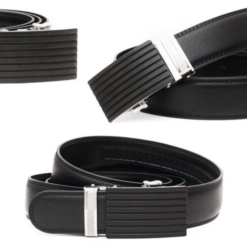 Cintura automatico Cintura in Pelle Uomo Cintura da Uomo Automatico Nero Griglia Nuovo