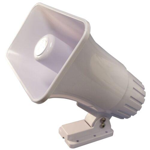 "SPECO SPC15RP 5/"" X 8/"" 30 WATT 8 OHM ABS PLASTIC WEATHER PROOF PA HORN IN WHITE"