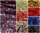 3mm Micro Mini Holographic or Plain Sequins on Nylon Mesh Fabric 50 Inches Wide