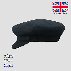 Failsworth-Wool-Fiddler-Mariner-Breton-Cap-Navy-Greek-Fisherman-Sailor-Hat