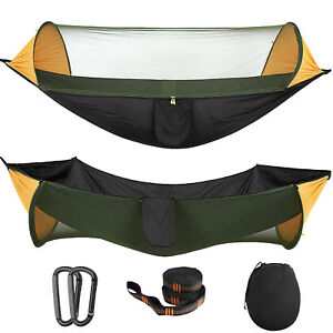 MoKo Portable Tent Camping Hammock Mosquito Net Cover Yard Outdoor Windproof Bed