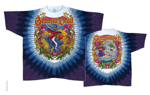 """FREE SHIPPING .Grateful Dead /""""Terrapin Moon/"""" Double Sided /"""" T-Shirt"""