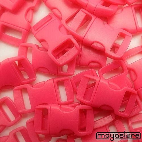 10 Mm Boucles Pink plié Boucle Bracelet paracord Buckle Clic Fermeture NEUF