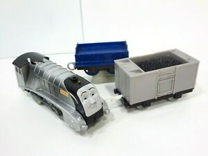 Spencer-Trackmaster-Coal-Covered-Motorized-Train-Silver-Thomas-amp-Friends-Gullane