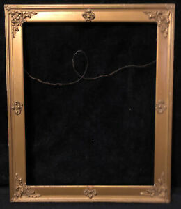 "Antique Victorian Gold Gilt Wood Frame Gilded Gesso 23.75"" x 19.5"""